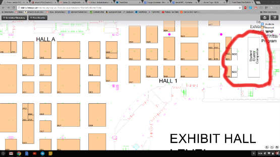 The Student Cluster Competition will take place across from booth #4618.