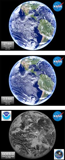 Climate simulation images courtesy NASA
